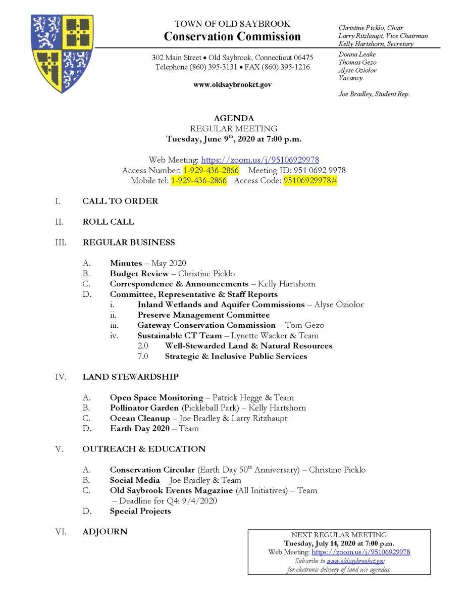 6/9 CC agenda