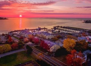 Sunrise at Saybrook Point Resort & Marina