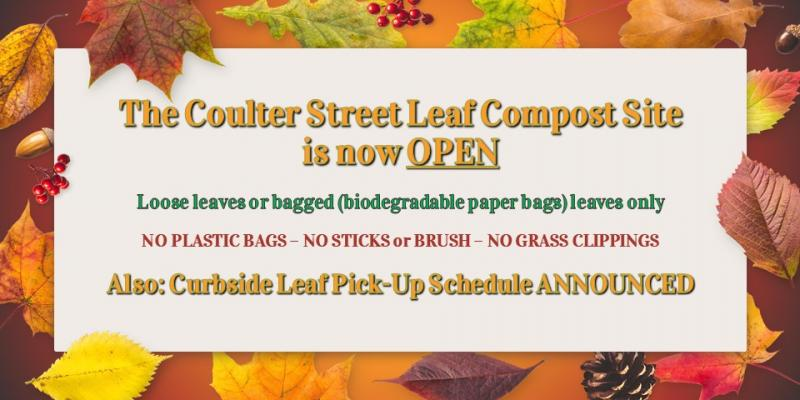 Leaf Compost Site Open